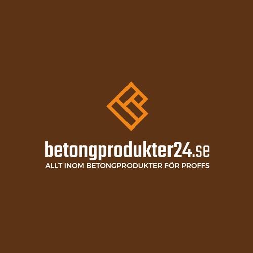 Professional logo for professional ecommerce: betongprodukter24.se