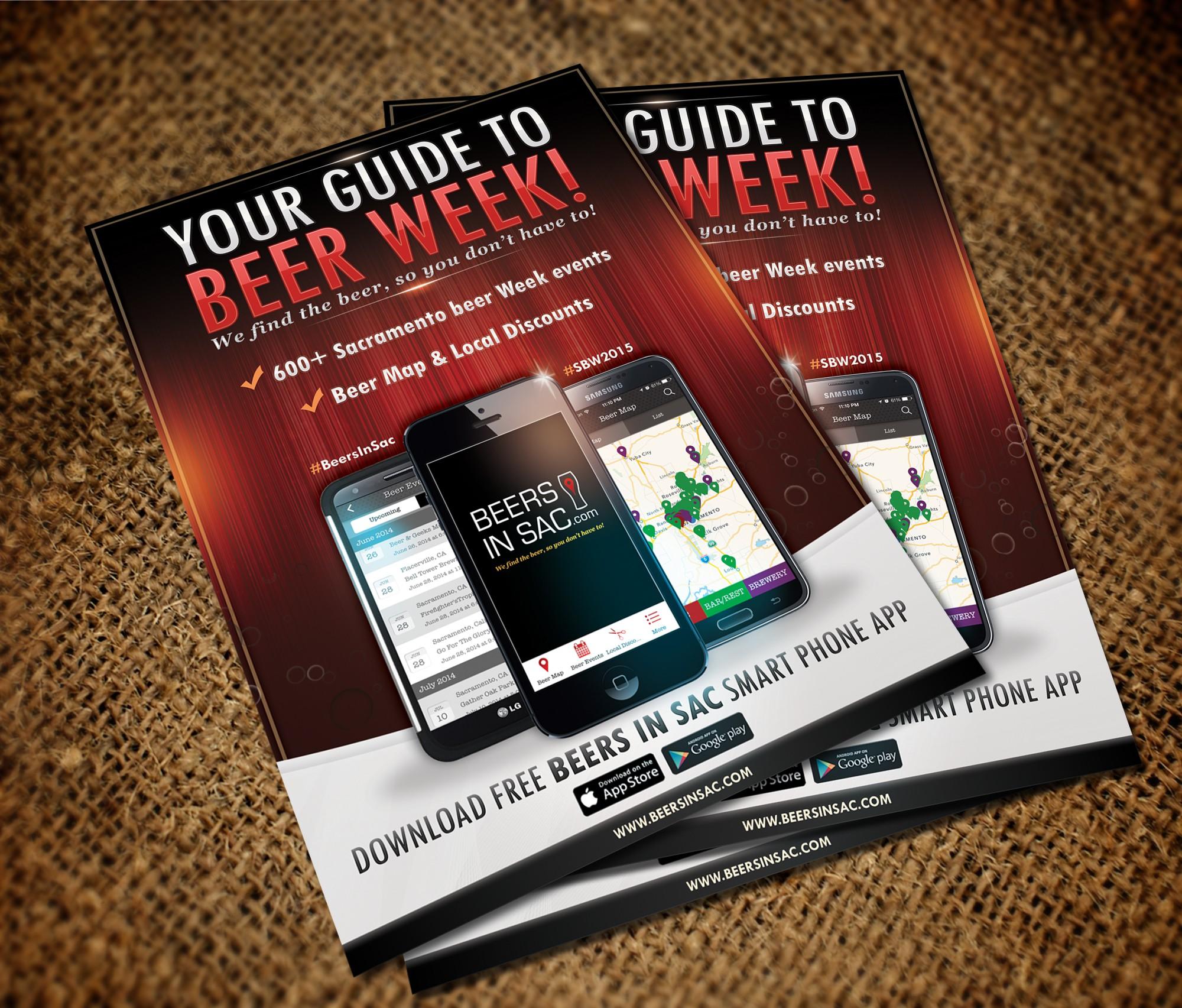 Flyer for beer related smartphone app!