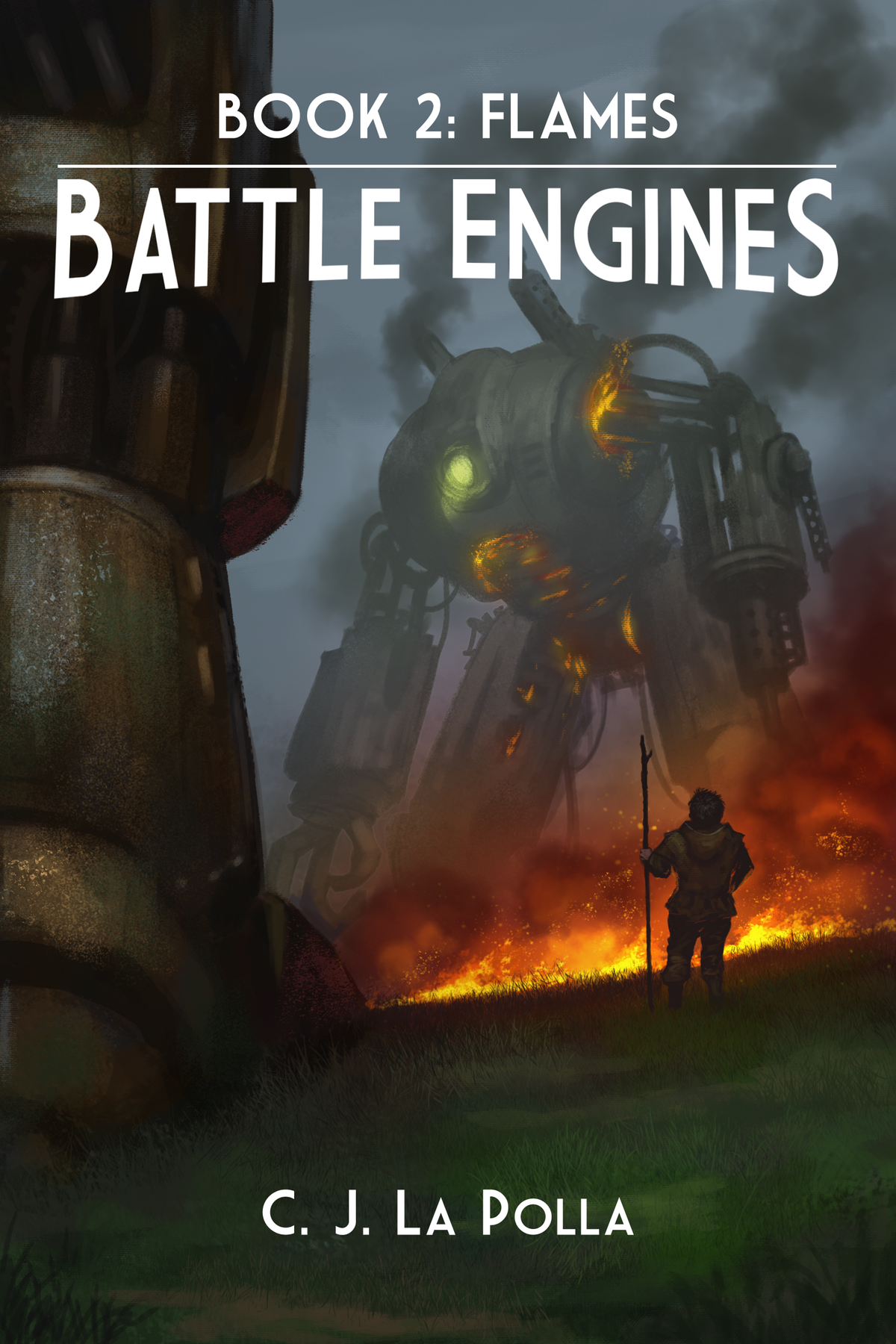 eBook and Paperback cover for Battle Engines: Book 2 Flames