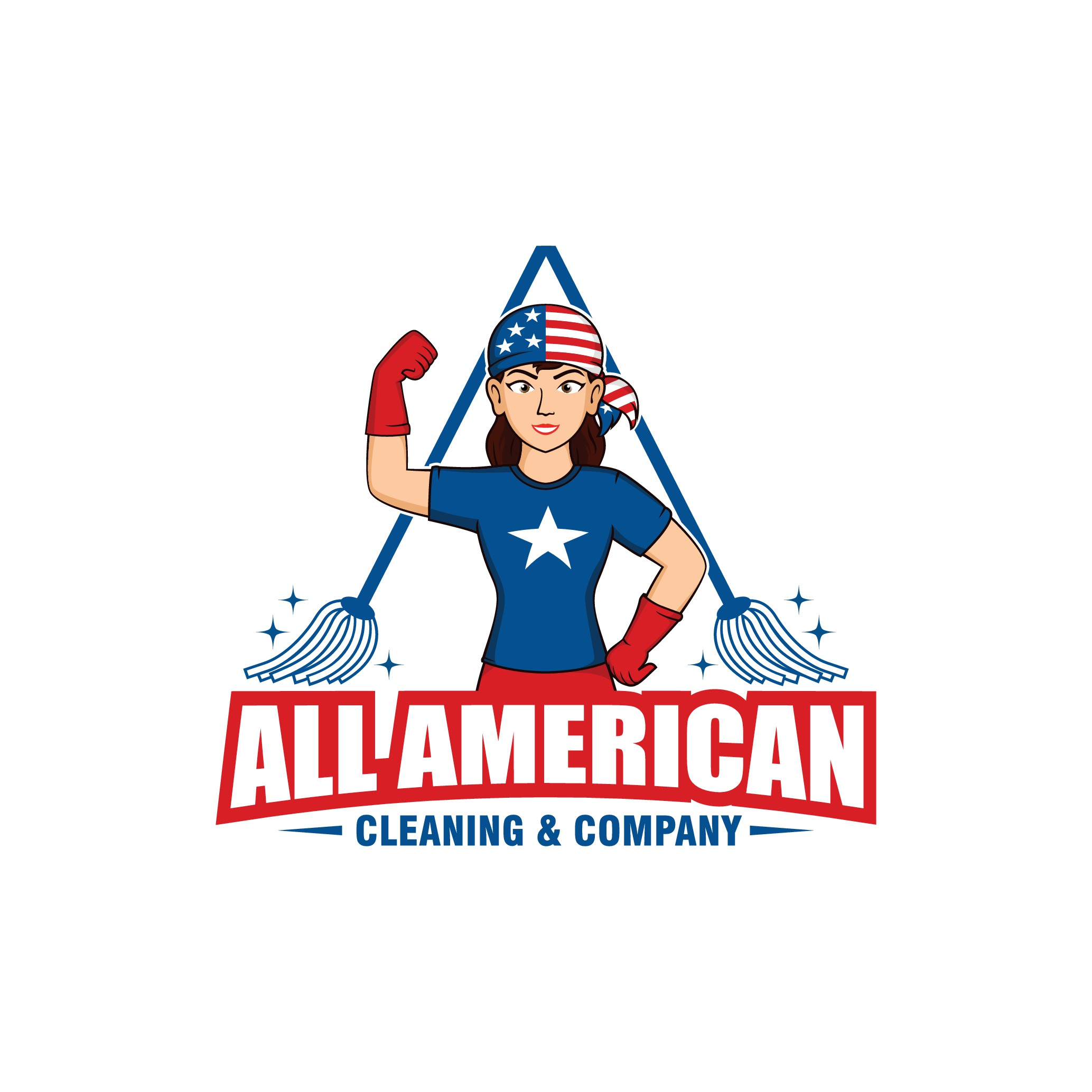 New & improved logo needed for our company relaunch! All American Cleaning & Company.