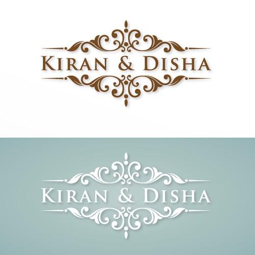 Kiran & Disha - Awesome Wedding Logo!