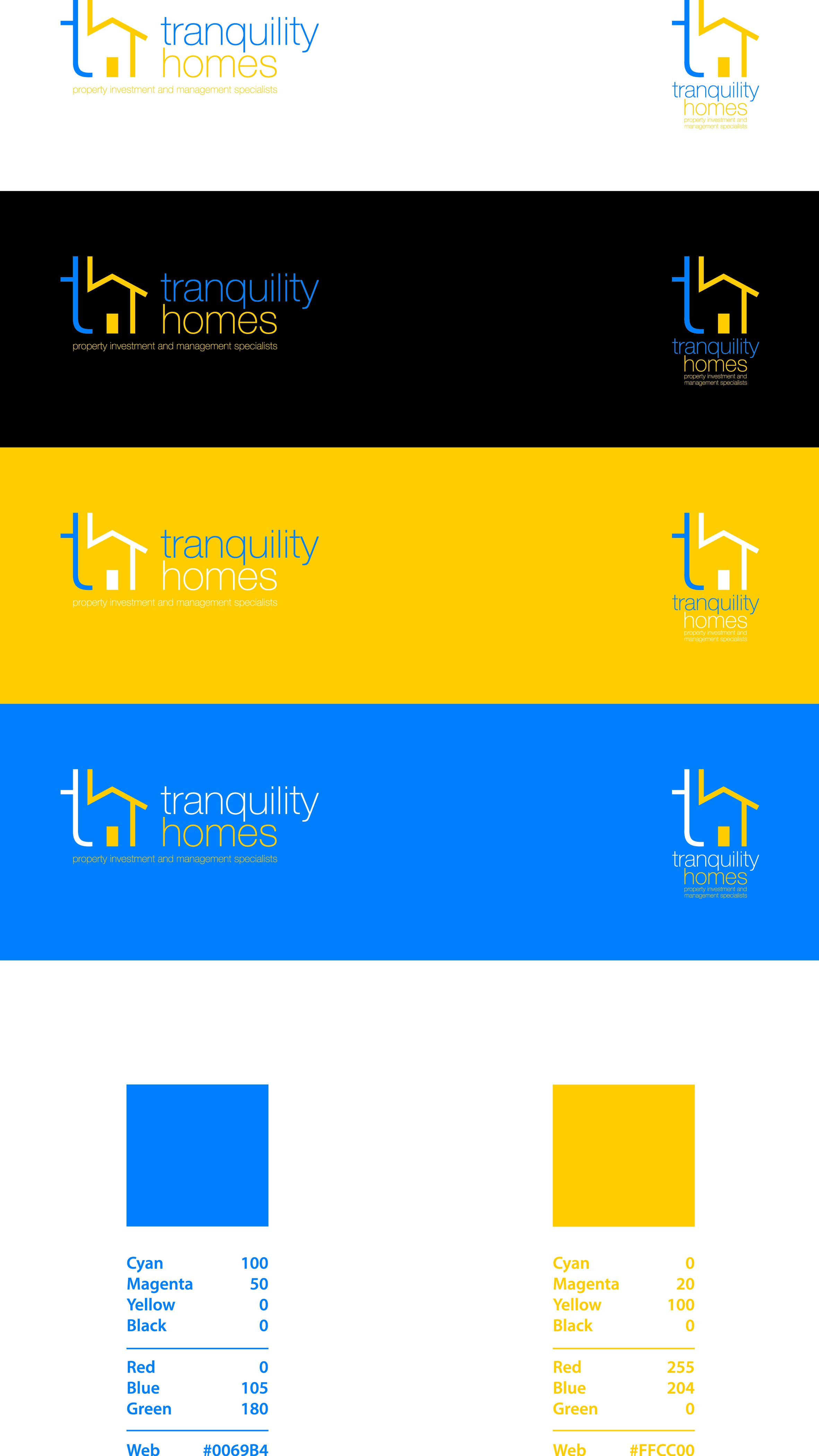 Design a modern and inviting logo for Tranquility Homes