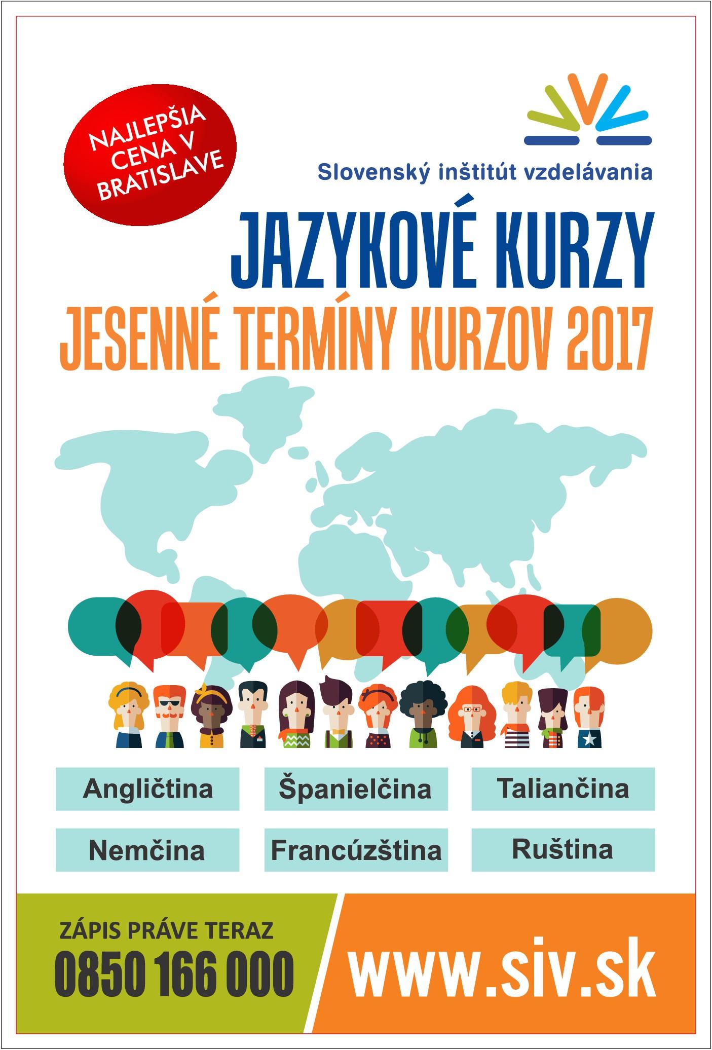 Language courses promotion - poster design