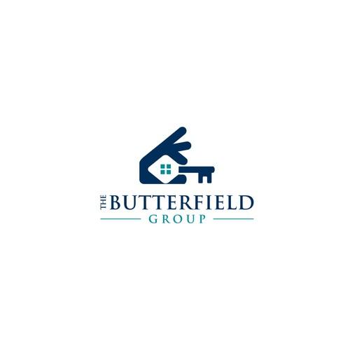 Unique real estate logo design