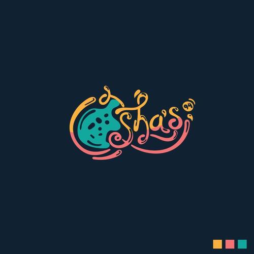 Ice cream logo for Osha's