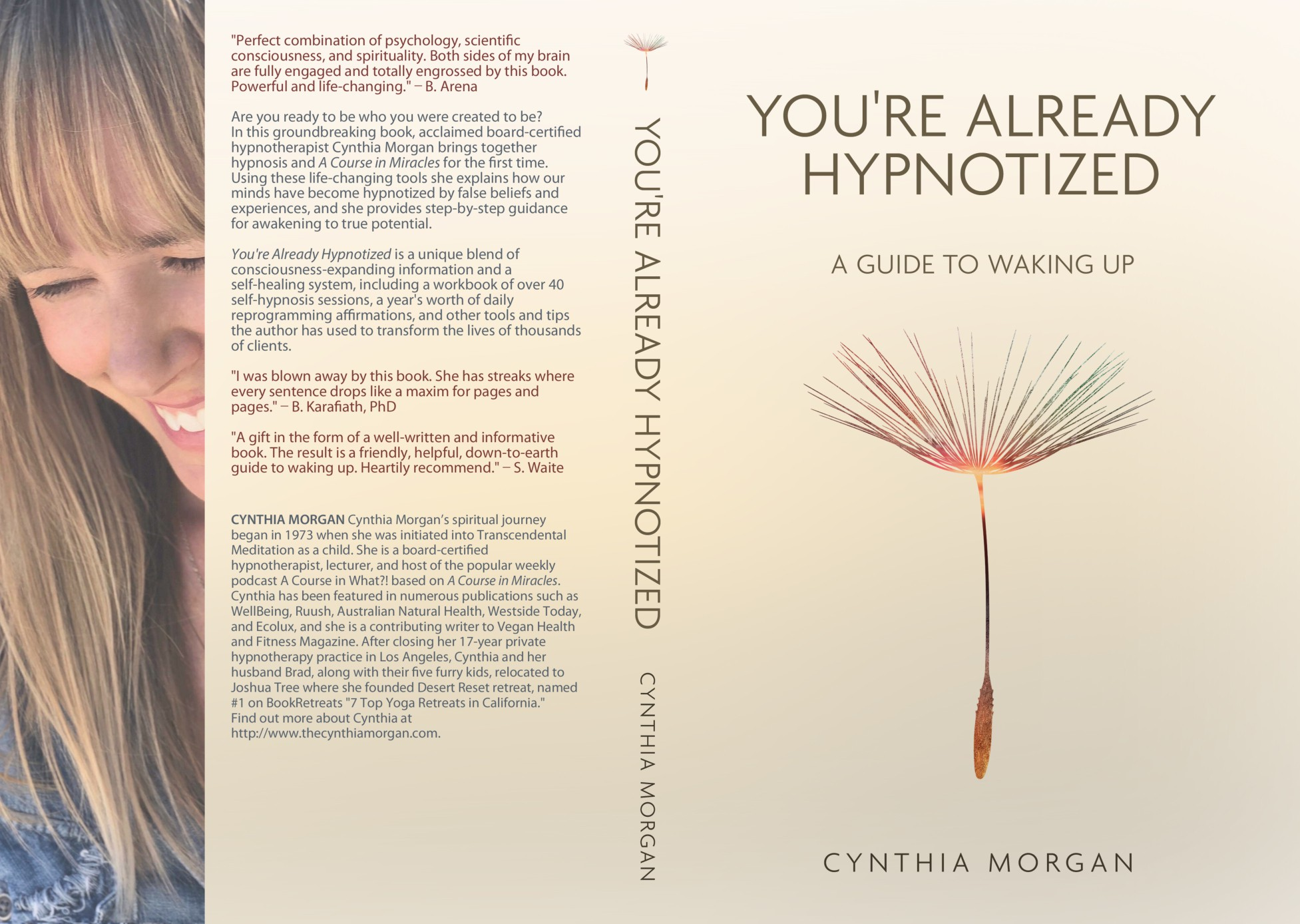 """Design a new book cover for """"You're Already Hypnotized: A Guide to Waking Up"""""""