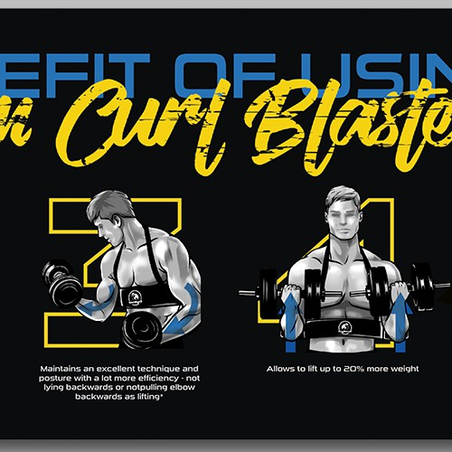 Benefit of Arm Curl Blaster Infographic
