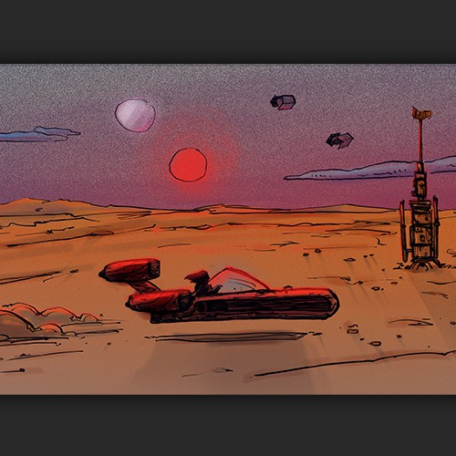 Sunset at Mos Eisley