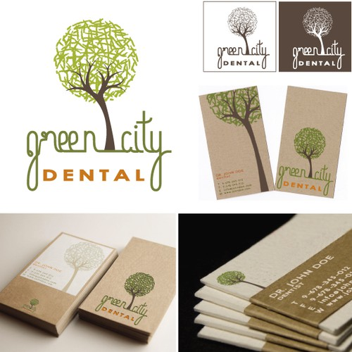 Create a unique and organic design for Green City Dental.
