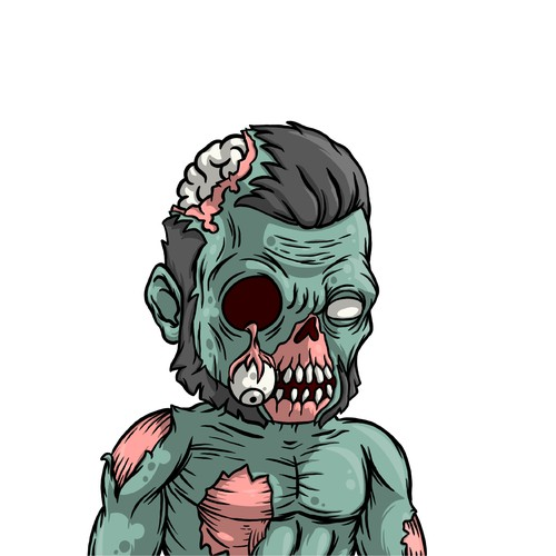 Zombie character design.