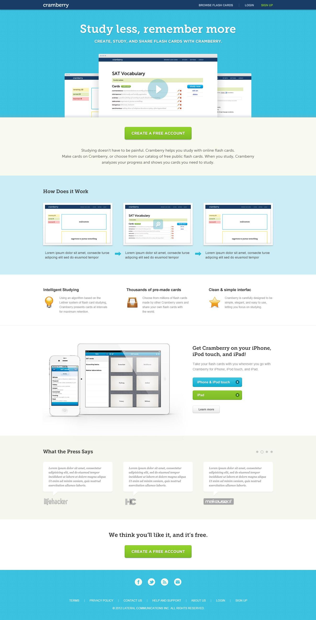Web/iOS app needs excellent homepage design!
