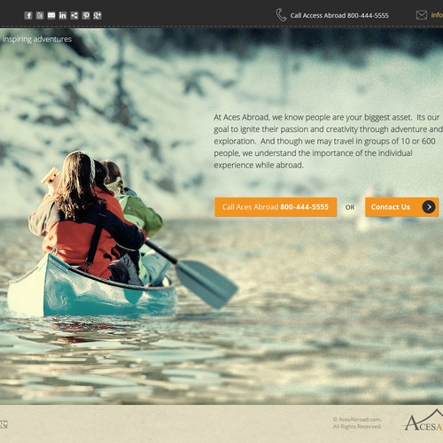 Website design for Aces Abroad