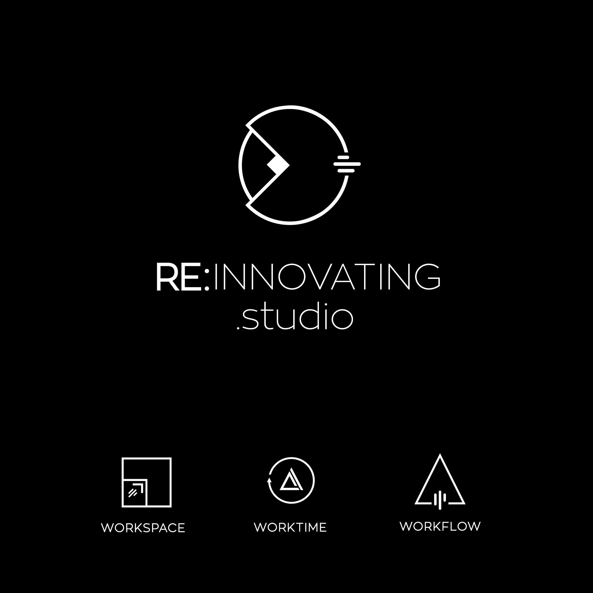 RE:Innovating .studio needs a logo merged from 3 symbols.