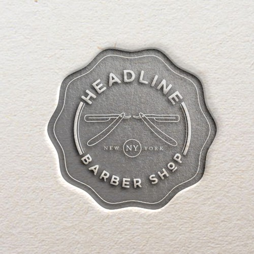 A simple seal for a hipster barber shop in New York