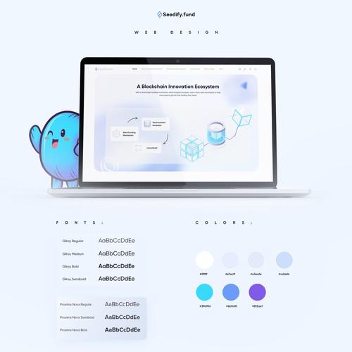 Clean, Professional, Unique Web Design for Seedify.fund