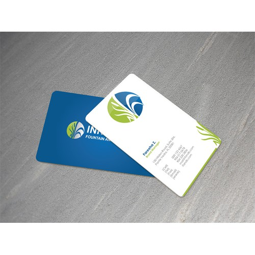 Business Card for Innovative Fountain and Lake Services
