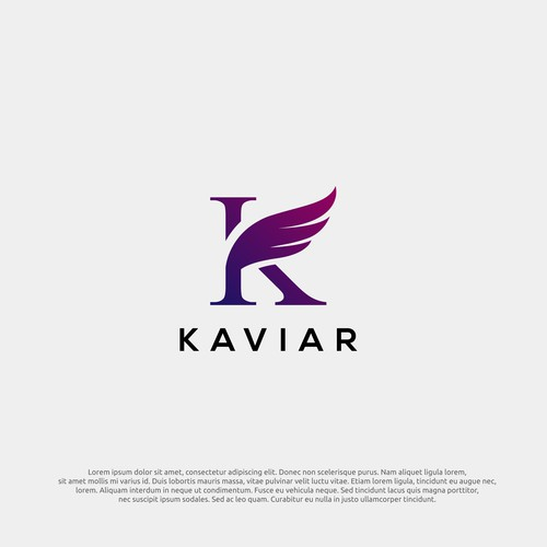 logo concept for kaviar
