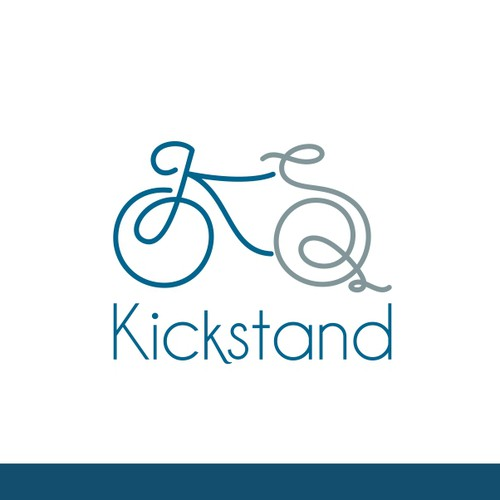 Get cranking and create a brand identity for a new cycling based company 'Kickstand'.