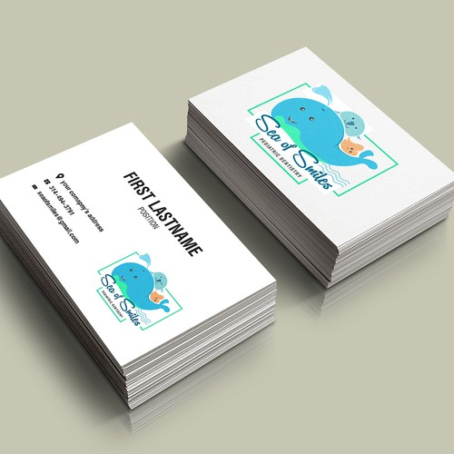 Business Card Mock Up for Sea of Smiles