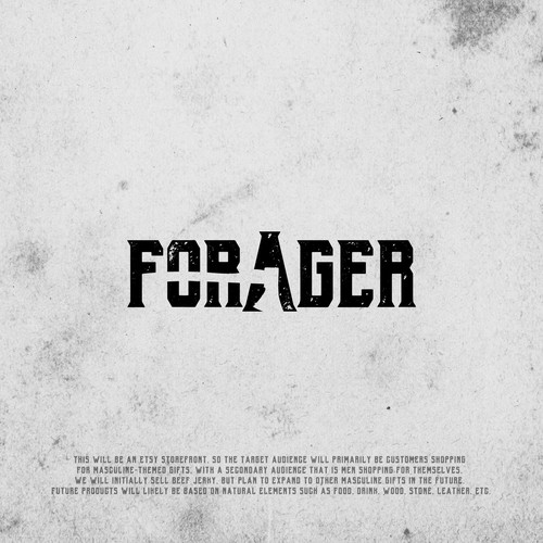 Negative space concept logo for Forager