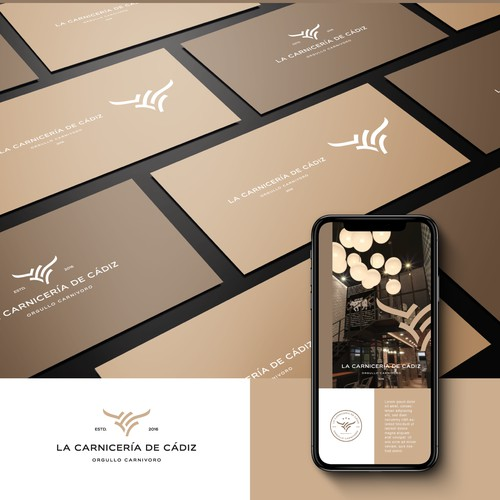 Simple, clean and memorable Logo for La Carniceria de Cadiz.