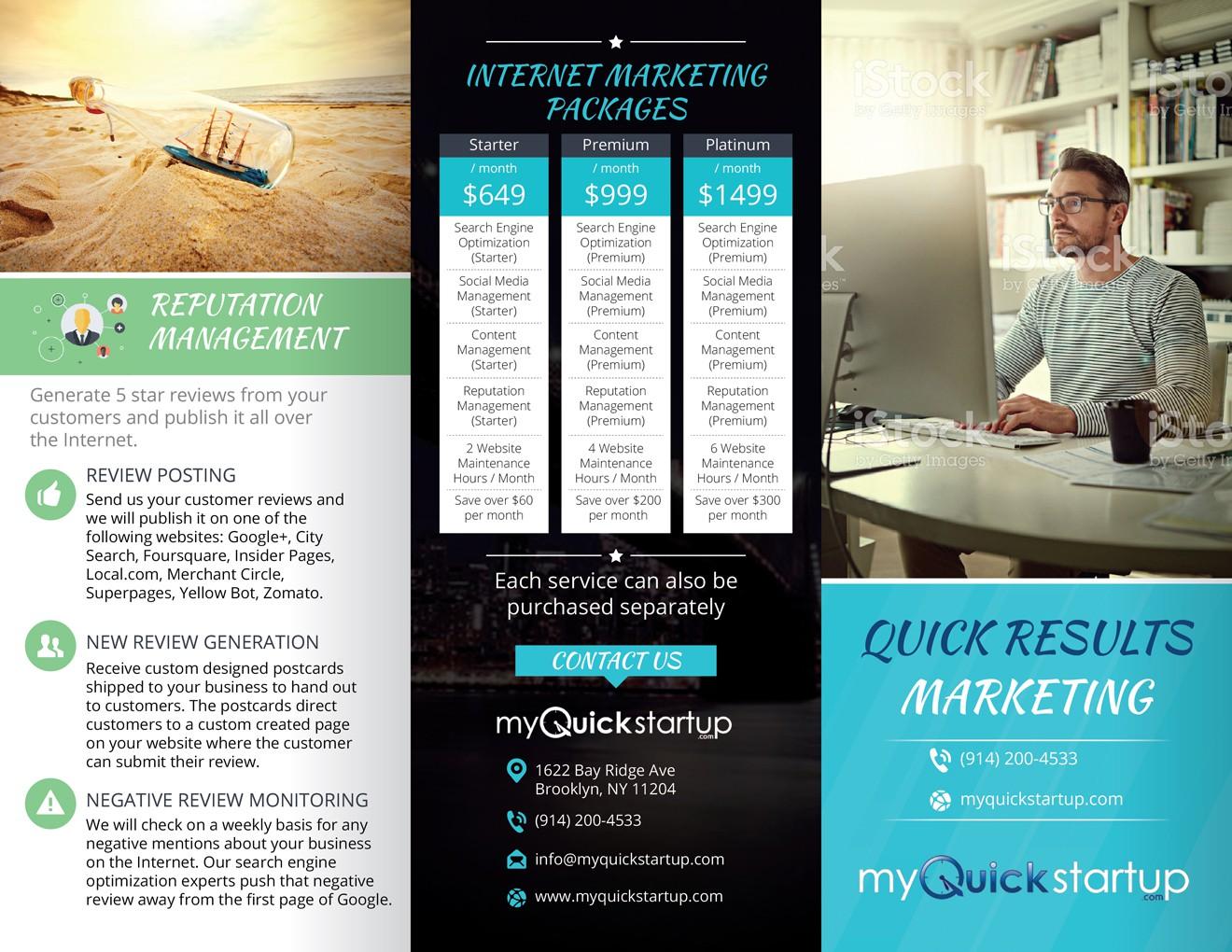 NYC Internet marketing company needs a brochure