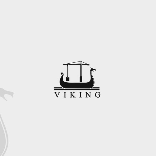 a viking boat logo