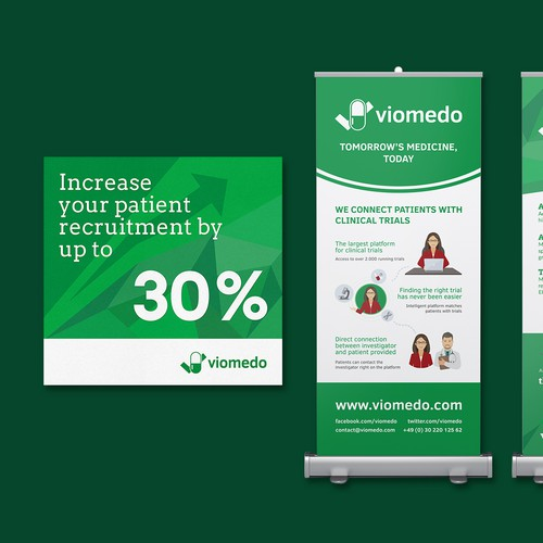 Viomedo convention booth materials