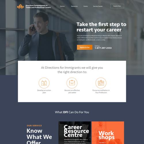 Immigrant career website