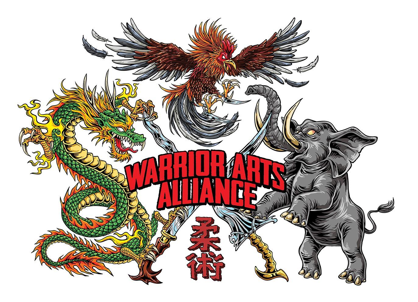 BATTLE READY! ... BAD ASS llustration for Warrior Arts Alliance
