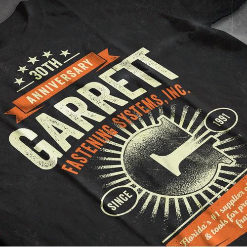 Garrett company t-shirt design