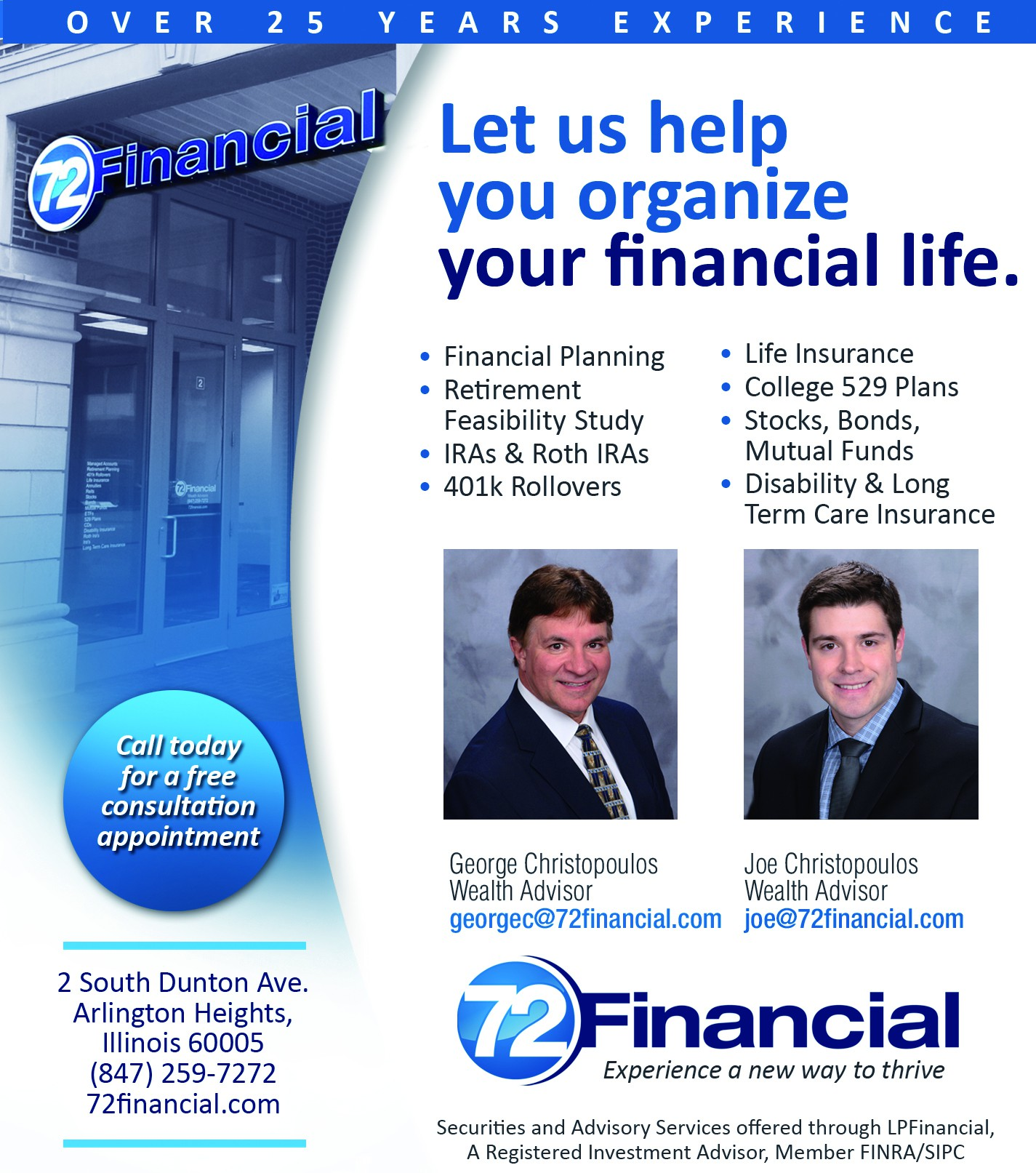 72 Financial needs a new print ad!