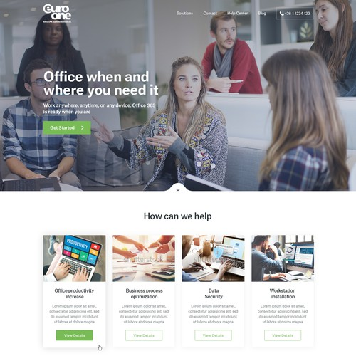 Business website.