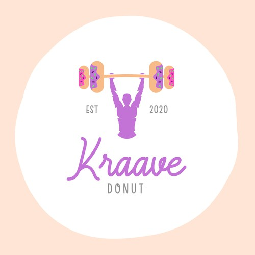 Logo design for a bakery of healthy donuts