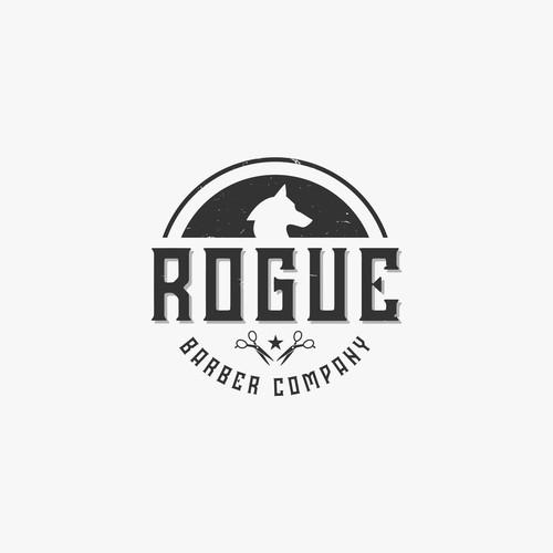 Rogue Barber Company logo design