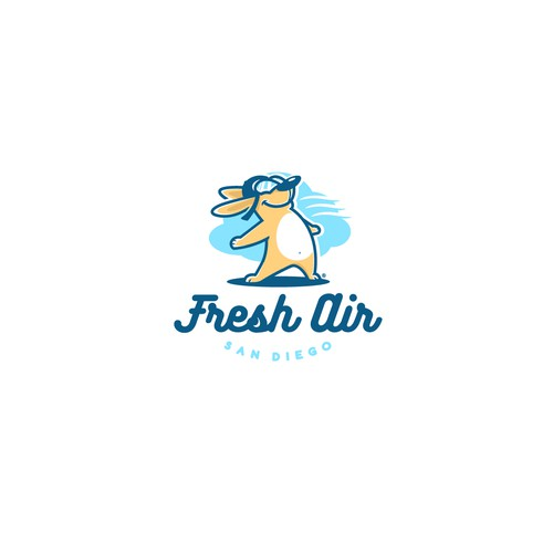 Fresh Air concept logo design.