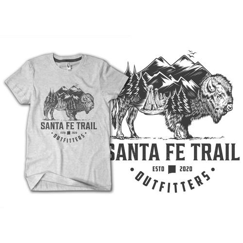 Buffalo santa fe with native american