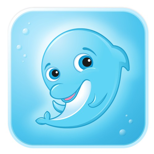Dolphin icon for an iOS app