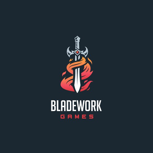 Logo for an Up and Coming Game Studio