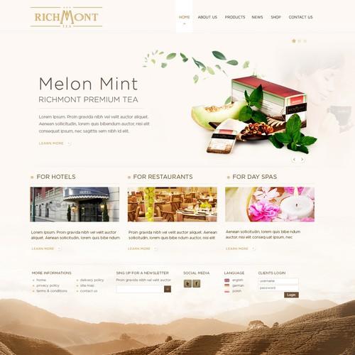 Richmont Tea website design