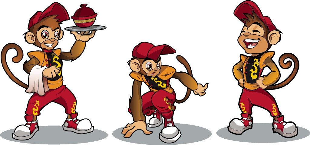 Design Titi Monkey Character/Mascot for a Thai Fast Food Restaurant Chain