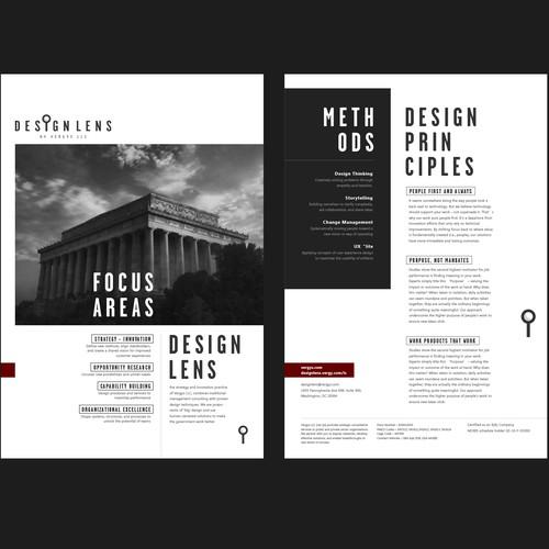 Cool, typographic handout