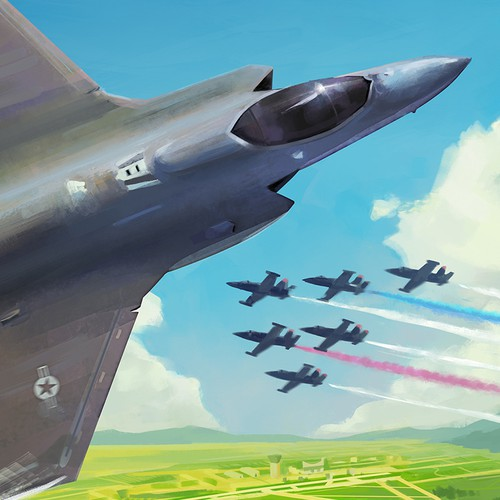Airfest poster illustration