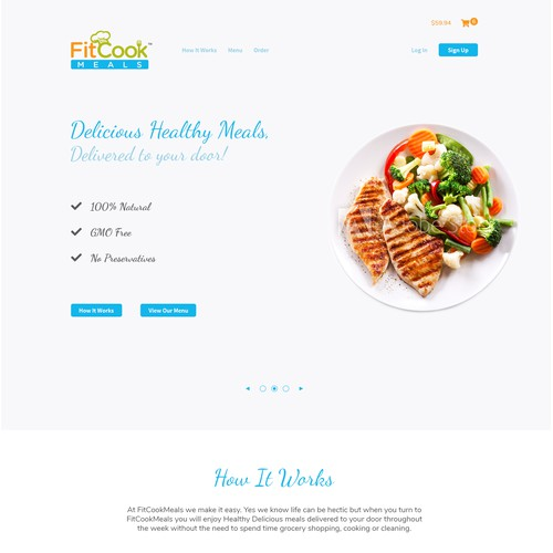 Landing page entry for FitCook Meals