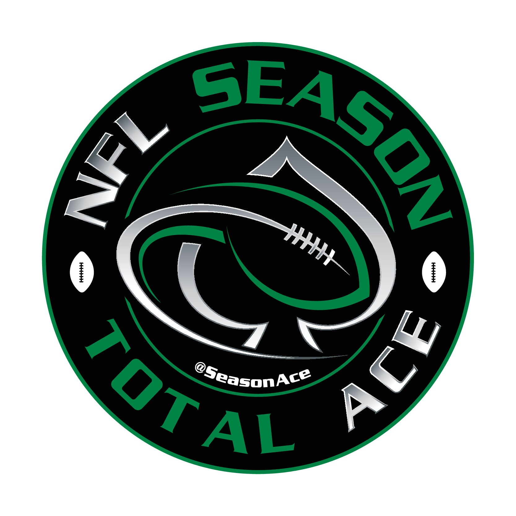 Create a cool Ace/football logo for a sports betting site
