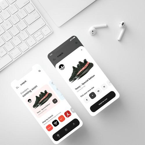 Sneaker Bot App Design