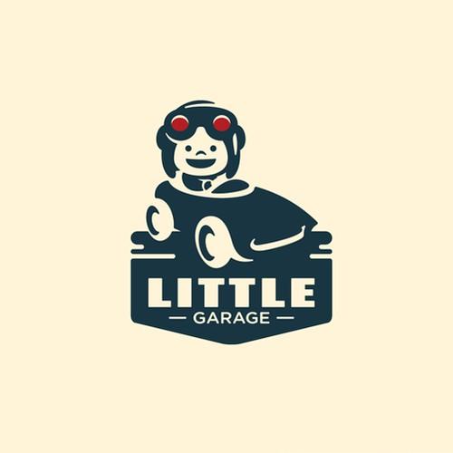 litte garage logo concept