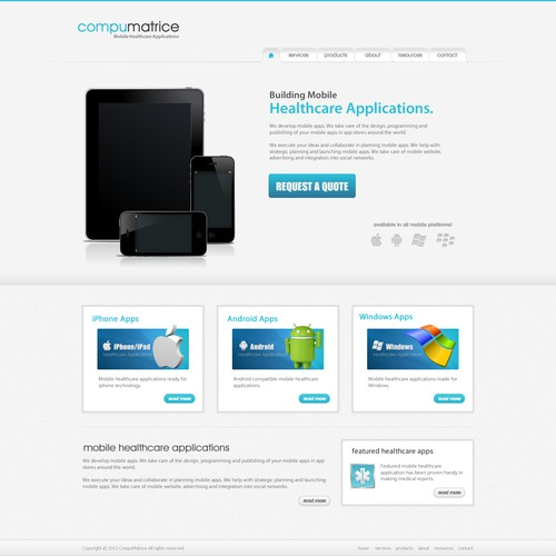 website design for CompuMatrice