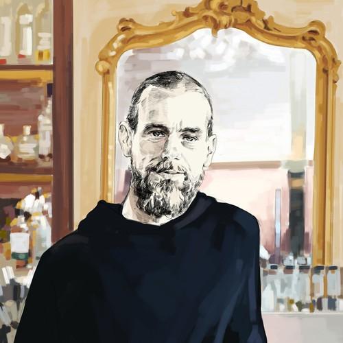 Illustration - Portrait of Jack Dorsey
