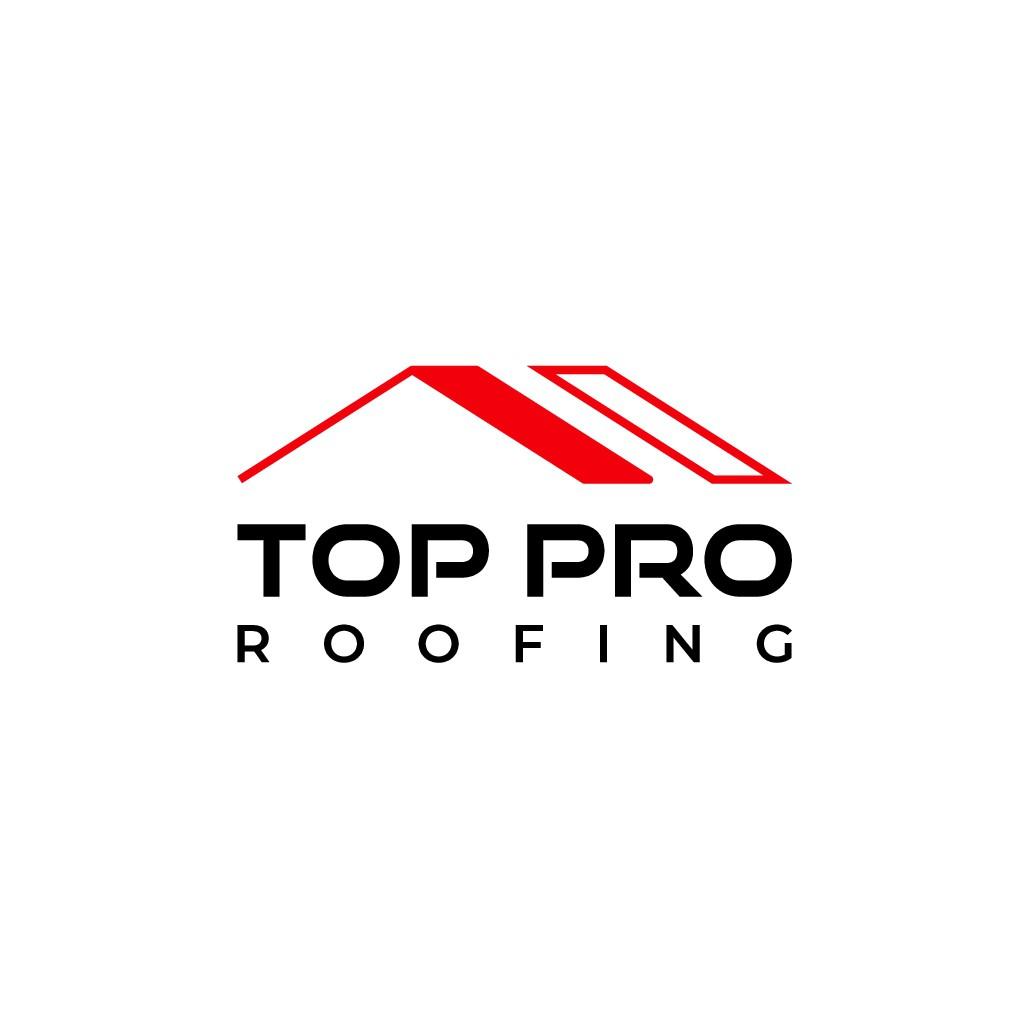 A clean memorable design representing roof repair